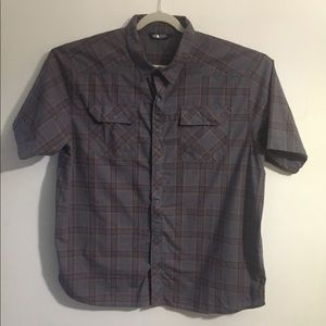 The North Face black plaid camp shirt. XXL